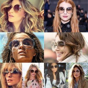 NWOT CHLOÉ round-frame rose gold-tone sunglasses